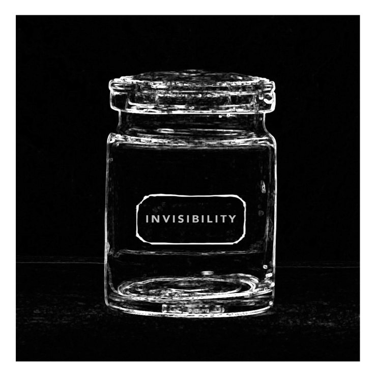 ART PRINT 5 X 5 Invisibility Jar